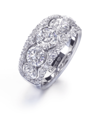 Round Crisscut® Diamond Wedding Band