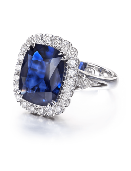 Christopher Designs Cushion Sapphire Fashion Ring