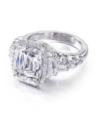 Cushion Crisscut® Diamond Engagement Ring
