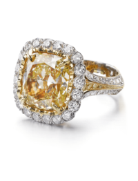 Christopher Designs Yellow Diamond Fashion Ring