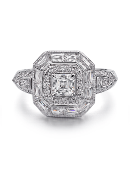 Asscher Crisscut® Diamond Engagement Ring
