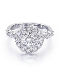 Round Crisscut® Diamond Engagement Ring