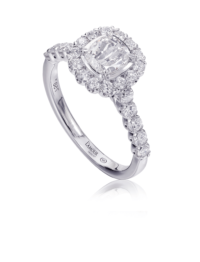 L'Amour Crisscut® Cushion Diamond Engagement Ring