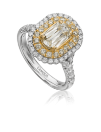 L'Amour Crisscut® Yellow Diamond Engagement Ring