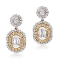 L'Amour Crisscut® Yellow Diamond Earrings