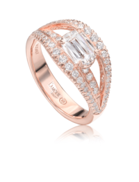 L'Amour Crisscut® Rose Gold Diamond Anniversary Ring