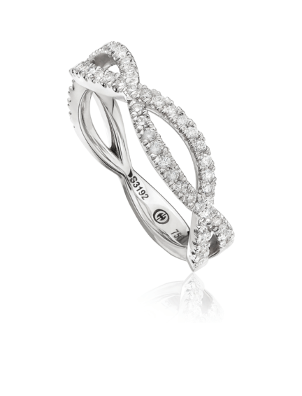 L'Amour Crisscut® Diamond Wedding Band