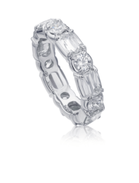 L'Amour Crisscut® Diamond Eternity Band