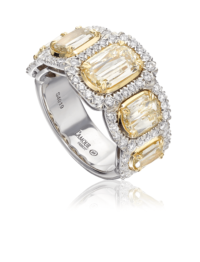 L'Amour Crisscut® Yellow Diamond Band