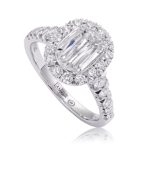 L'Amour Crisscut® Diamond Engagement Ring