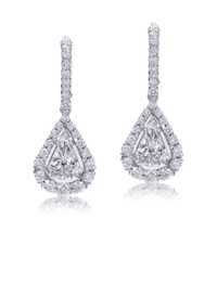 L'Amour Crisscut® Pear Shape Diamond Earrings