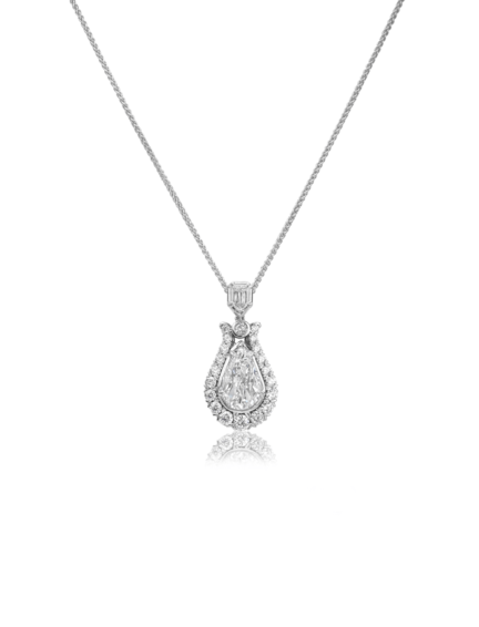 L'Amour Crisscut® Pear Shape Diamond Pendant