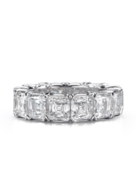 Asscher Crisscut® Diamond Wedding Band