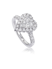 L'Amour Crisscut® Heart Shape Diamond Engagement Ring
