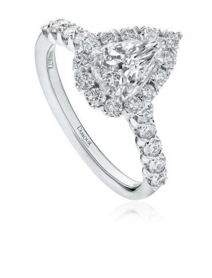 L'Amour Crisscut® Pear Shape Diamond Engagement Ring
