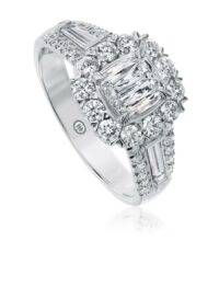 L'Amour Crisscut® Cushion Shape Diamond Engagement Ring