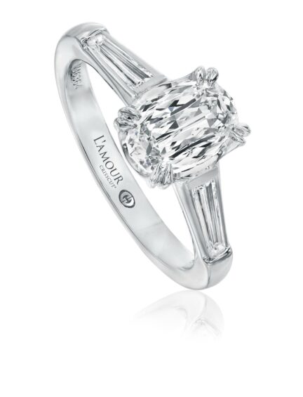 L'Amour Crisscut® Oval Shape Diamond Engagement Ring