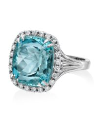 Christopher Designs Aquamarine Fashion Ring
