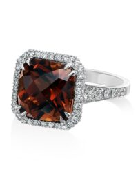 Christopher Designs Cushion Champagne Tourmaline Fashion Ring