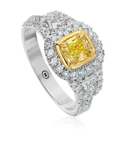 Christopher Designs Radiant Yellow Diamond Fashion Ring