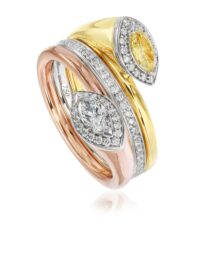 Christopher Designs Marquee Yellow Diamond and Diamond Fashion Ring