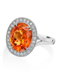 Christopher Designs Oval Mandarin Garnet Fashion Ring