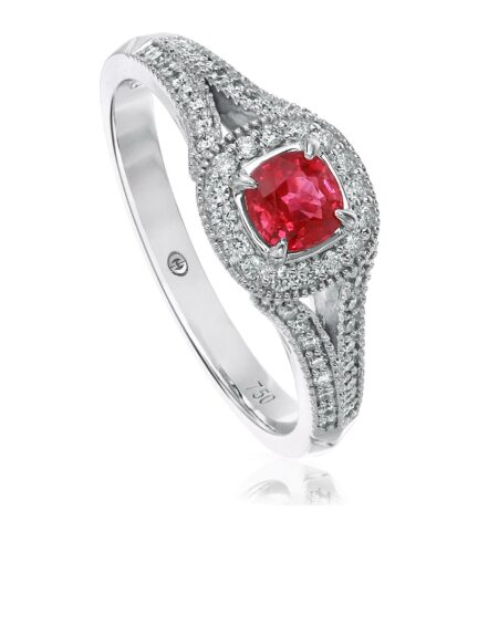 Christopher Designs Cushion Ruby Fashion Ring