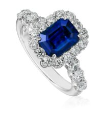 Christopher Designs Emerald Sapphire Fashion Ring