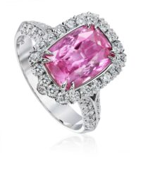 Christopher Designs Emerald Pink Sapphire Fashion Ring