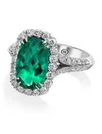 Christopher Designs Green Tourmaline Fashion Ring