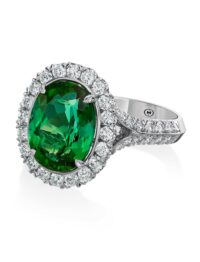 Christopher Designs Oval Green Tourmaline Fashion Ring