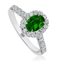 Christopher Designs Oval Emerald Fashion Ring