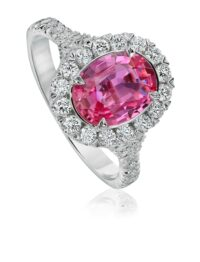 Christopher Designs Oval Pink Sapphire Fashion Ring