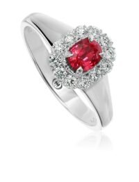 Christopher Designs Oval Ruby Fashion Ring