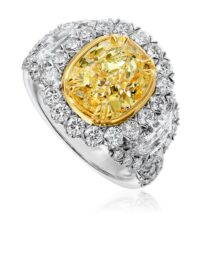 Christopher Oval Yellow Diamond Fashion Ring