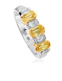 Christopher Designs Yellow Diamond and Diamond Band