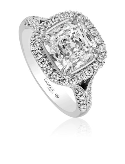Cushion Crisscut Diamond Engagement Ring