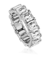 L'Amour Crisscut Diamond Eternity Band