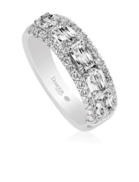 L'Amour Crisscut Diamond Band