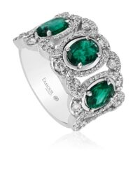 Christopher Designs Emerald Fashion Ring