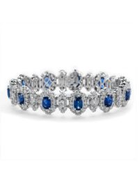 Christopher Designs Diamond and Sapphire Bracelet