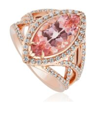 Christopher Designs Morganite Fashion Ring
