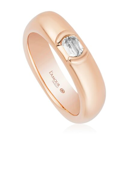 L'Amour Crisscut  Diamond  Unisex Engagament Band