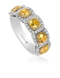 Christopher Designs Yellow Sapphire Fashion Ring