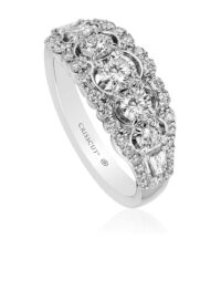 Crisscut Round Diamond Band