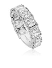 Christopher Designs L'Amour Crisscut Diamond Band