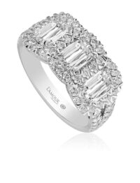 Christopher Designs  L'Amour Crisscut Diamond Ring