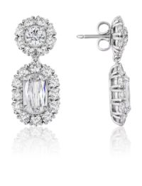 Christopher Designs L'Amour Crisscut diamond earrings