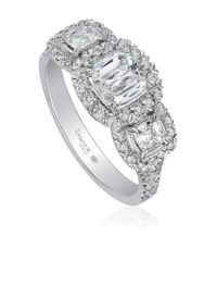 Christopher Designs L'Amour Crisscut® Cushion Engagement Ring