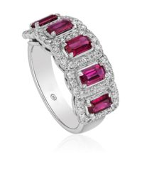 Christopher Designs  Ruby and Diamond Band